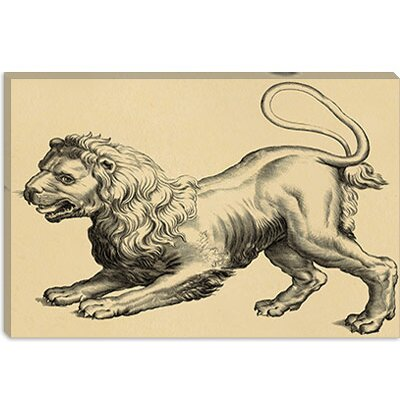 iCanvasArt Leo (Lion) Canvas Wall Art