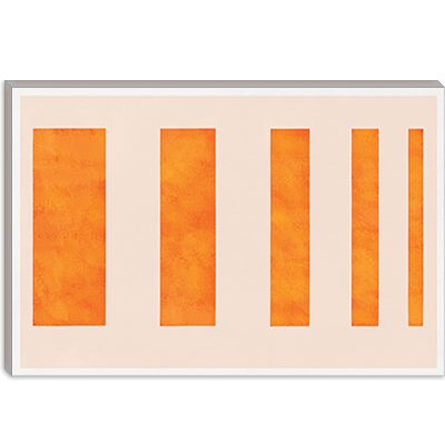 iCanvasArt Orange Levies Modern Canvas Wall Art