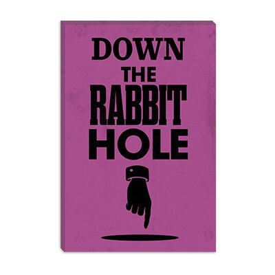 iCanvasArt Rabbit Hole Modern Canvas Wall Art