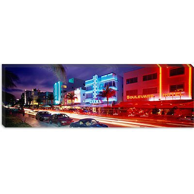 iCanvasArt Ocean Drive, Miami Beach, Miami, Florida Canvas Wall Art