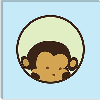 iCanvasArt Monkey Face Canvas Wall Art