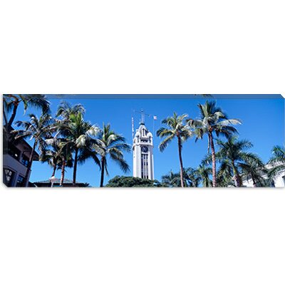 iCanvasArt Aloha Tower, Oahu, Honolulu, Hawaii Canvas Wall Art