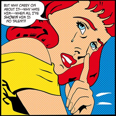 iCanvasArt Why Carry on about It II - (Roy Lichtenstein - Comic Books) Canvas Wall Art