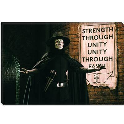 iCanvasArt V for Vendetta Movie Art Canvas Wall Art