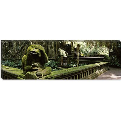 iCanvasArt Statue of a Monkey in a Temple, Bathing Temple, Ubud Monkey Forest, Ubud, Bali, ...