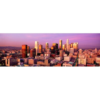 iCanvasArt Sunset Skyline Los Angeles, California Canvas Wall Art