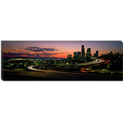 iCanvasArt Sunset Puget Sound and Seattle Skyline Washington Canvas Wall Art