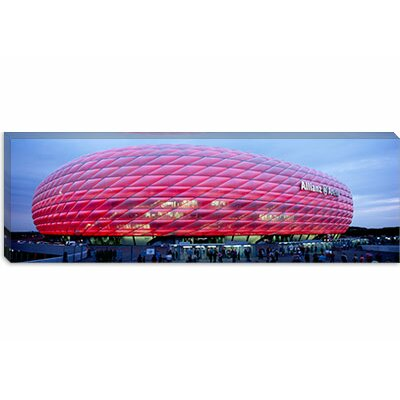 iCanvasArt Soccer Stadium Lit up at Dusk, Allianz Arena, Munich, Germany Canvas Wall Art
