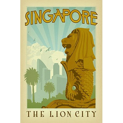 iCanvasArt The Lion City - Singapore Canvas Wall Art