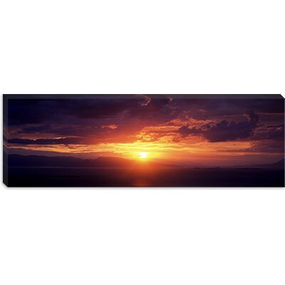 iCanvasArt Sunset over the Sea, Aegina, Saronic Gulf Islands, Attica, Greece Canvas Wall Art