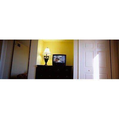 iCanvasArt Television and Lamp in a Hotel Room, Las Vegas, Clark County, Nevada Canvas Wall ...