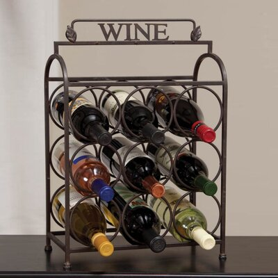 Vintage 9 Bottle Tabletop Wine Rack