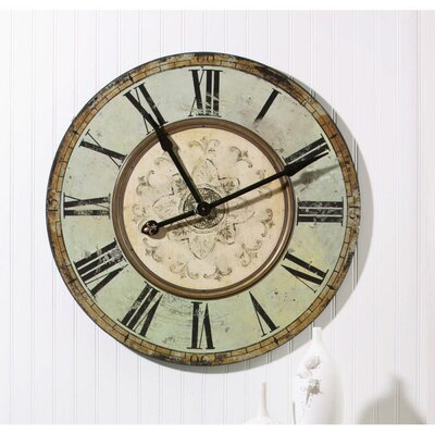 Cape Craftsmen Wooden Clock in Aqua