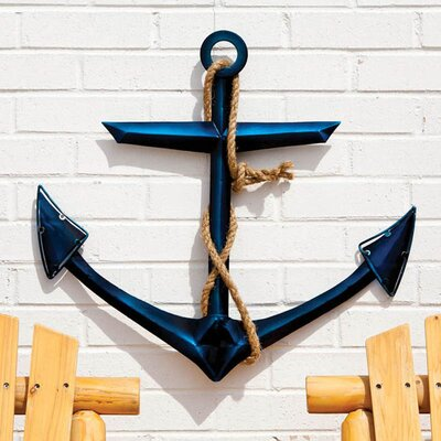 Cape Craftsmen Glass / Metal Anchor Wall Decor