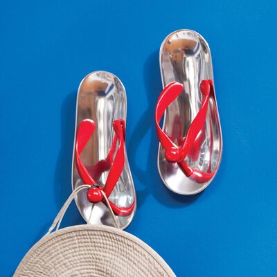 Aluminum Flip Flop Wall Decor (Set of 2)