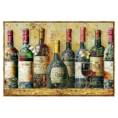 Wine Collection Framed Canvas Art