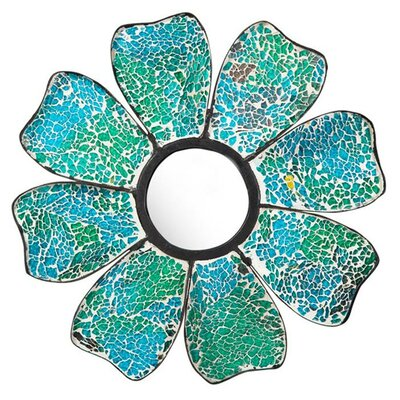 Cape Craftsmen Bohemian Rhapsody Nature's Charm Glass Mosaic Flower Shaped Mirror (Set of 3)
