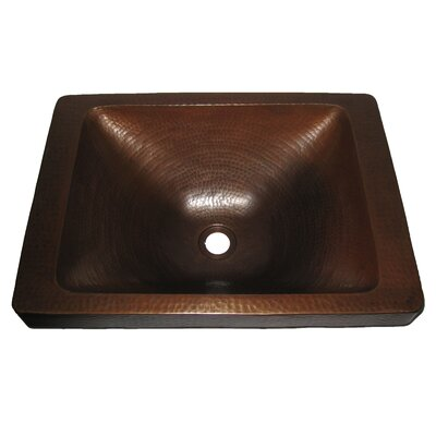 Santa Cruz Copper Drop-In Bathroom Sink - TCU-013AN / TCU-013NA