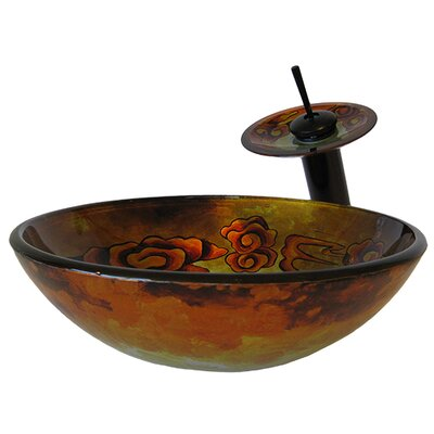 Modello Hand Painted Glass Vessel Sink - NSFC-021001ORB