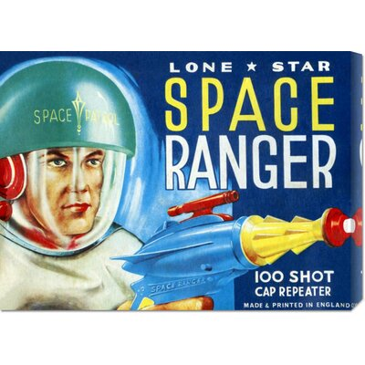 'Lone Star Space Ranger 100 Shot Cap Repeater' by Retrobot Stretched Canvas Art