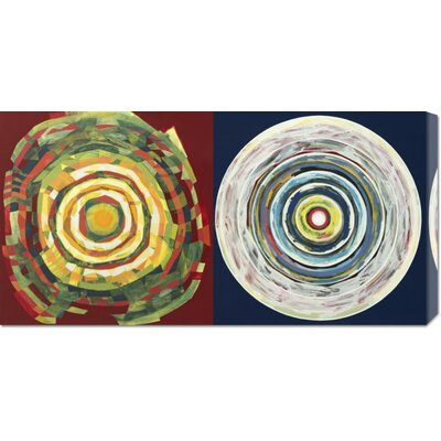 Global Gallery 'Target duo I' by Nino Mustica Stretched Canvas Art