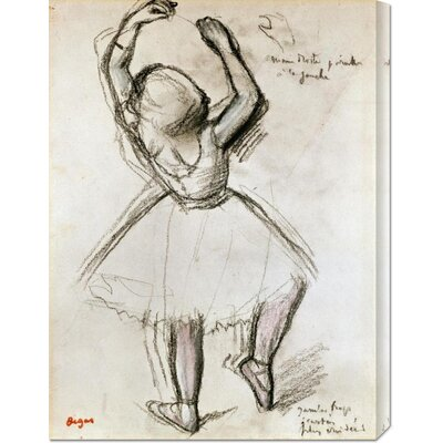 'Backview of a Dancer' by Edgar Degas Graphic Art on Canvas