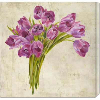 'Bouquet de Tulipes' by Leonardo Sanna Painting Print on Canvas