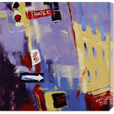 Global Gallery 'Spring Street Signage' by Patti Mollica Stretched Canvas Art