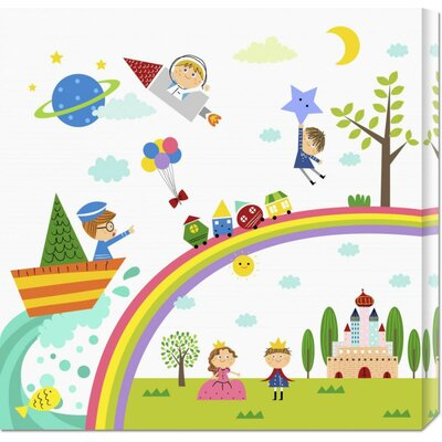 Bentley Global Arts 'Happy Children Enjoying Their Time II' by Jiyeong Na Stretched Canvas Art