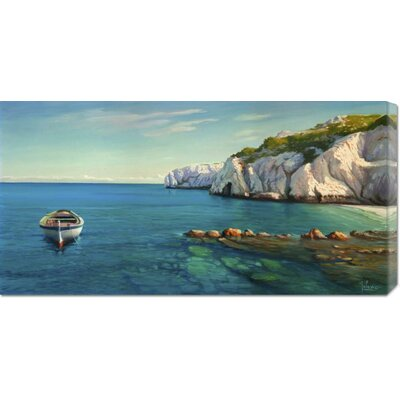 'Caletta Mediterranea' by Adriano Galasso Stretched Canvas Art