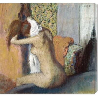 'After the Bath' by Edgar Degas Stretched Canvas Art