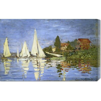 Bentley Global Arts 'Regatta at Argenteuil' by Claude Monet Stretched Canvas Art