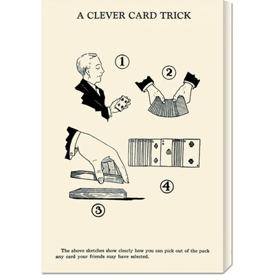 Global Gallery 'A Cleaver Card Trick' by Retromagic Stretched Canvas Art
