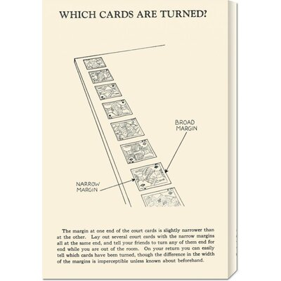 Global Gallery 'Which Cards are Turned' by Retromagic Stretched Canvas Art