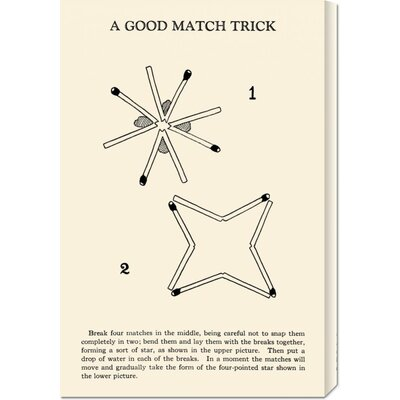 Global Gallery 'A Good Match Trick' by Retromagic Stretched Canvas Art