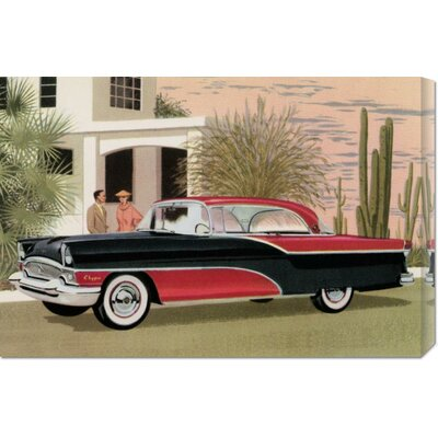 Global Gallery 'Packard Clipper at the Camelback Inn' by Retro Travel Stretched Canvas Art