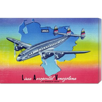 Global Gallery 'Linea Aeropostal Venezolana; The Venezuelan Airline' by Retro Travel Stretched ...