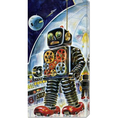 Global Gallery 'Gear Robot' by Retrobot Stretched Canvas Art