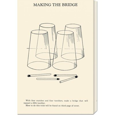 Global Gallery 'Making the Bridge' by Retromagic Stretched Canvas Art