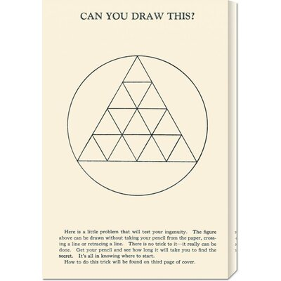 Global Gallery 'Can You Draw This?' by Retromagic Stretched Canvas Art