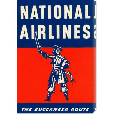 Global Gallery 'Nation Airlines - The Buccaneer Route' by Retro Travel Stretched Canvas Art