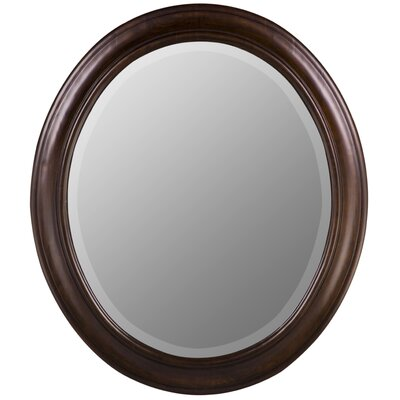 Cooper Classics Chelsea Oval Mirror in Tobacco Finish