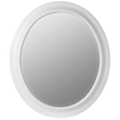 ZPS1041Chelsea Oval Mirror in Chespeake White Finish