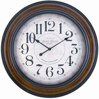Cooper Classics Payton Wall Clock in Chestnut