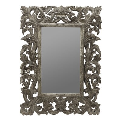 Cooper Classics Tara Wall Mirror in Distressed Silver Crackle