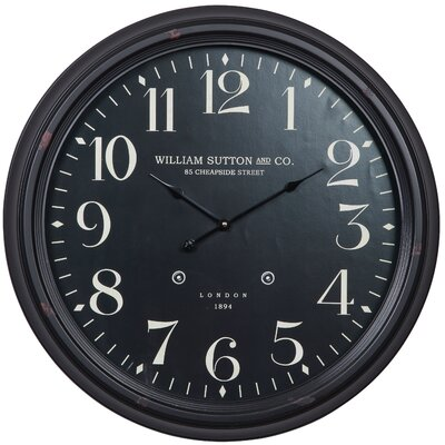 "Cooper Classics Oversized 24.5"" Norton Wall Clock"