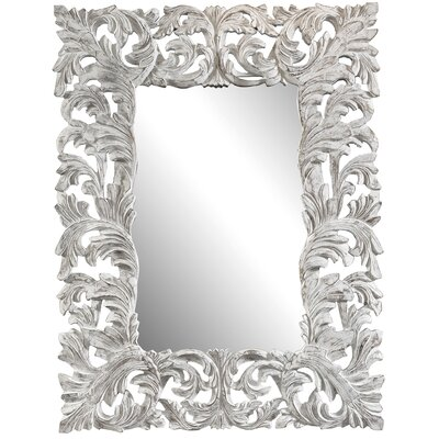 Cooper Classics Stockton Mirror in Distressed Aged White