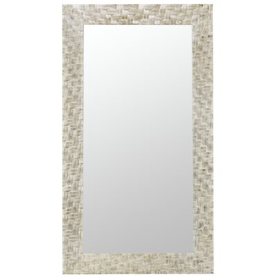Abbott Mirror in Distressed Off White