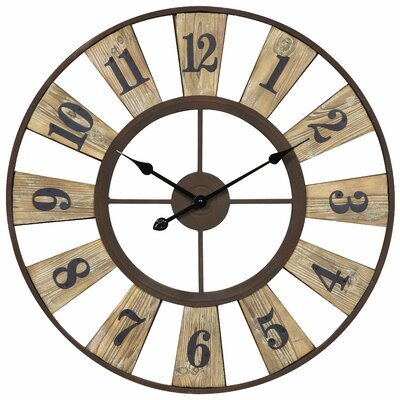 Cooper Classics Minden Clock in Distressed Rustic Bronze