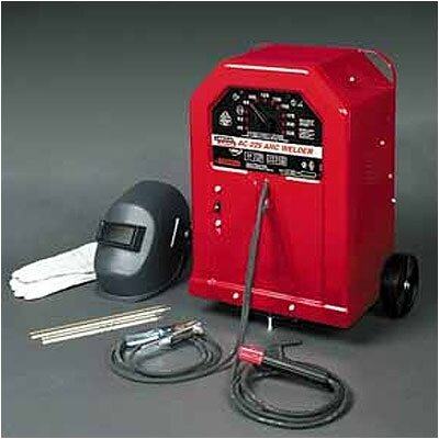 Lincoln Electric AC-225 Stick Welder 230 Volt AC. With Wheel Kit And Welding Gloves